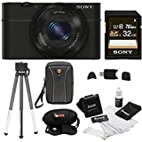 Sony DSC-RX100M II Cyber-Shot Digital Camera with 8 Inch Table Tripod and 32GB SDHC Accessory Bundle