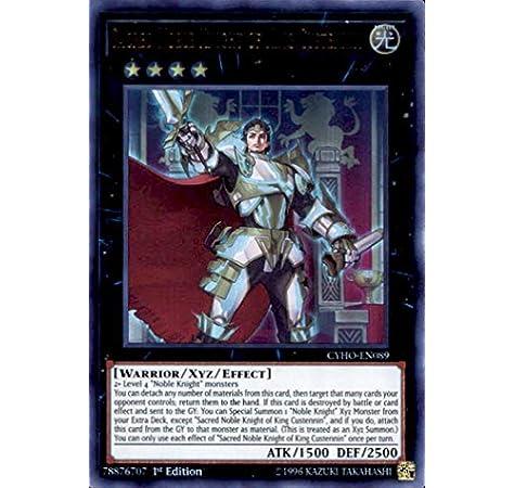 3 x CYHO-EN089 Sacred Noble Knight of King Custennin 1st edition brand new