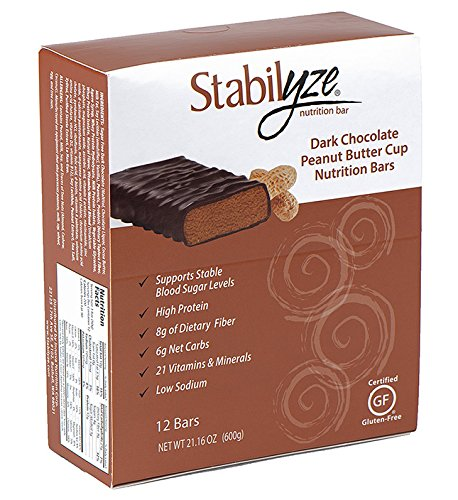 Stabilyze Nutrition Bar - Dark Chocolate Peanut Butter Cup Bar