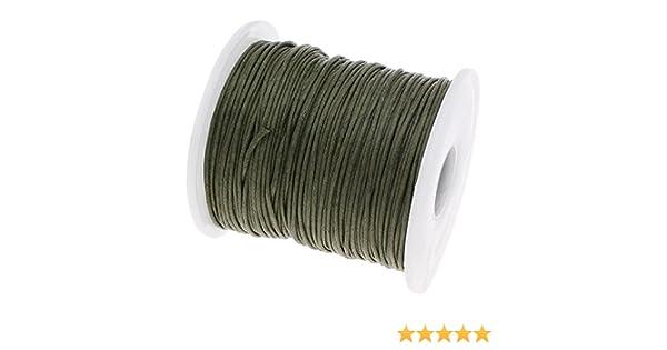 Perlin 75 m encerados algodón Encerado cordón Verde Oscuro 1 mm ...