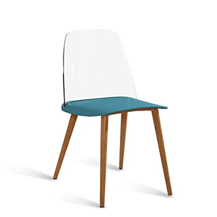 Amazon.com: GLJ Fashion Nordic Danish Designer Dining Chair to Discuss Casual Home Creative Personality Modern Minimalist Chair Bar Stool (Color : Blue): ...
