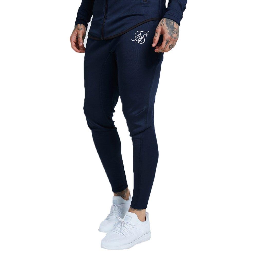 Pantalones Siksilk – Athlete Track Azul/Blanco Talla: XS (X-Small ...