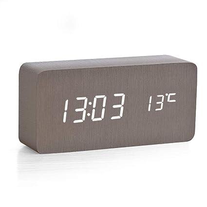 EGCLJ Reloj con Alarma, Almacenamiento De Electricidad ...