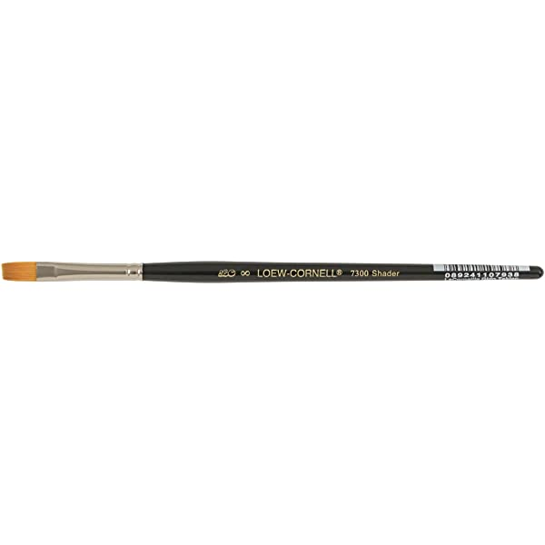 Loew-Cornell La Corneille Golden Taklon Angular Shader Brush 1//4 Inch