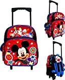 Disney Mickey Mouse Toddler Rolling School Backpack 12' Canvas Boy's Book Bag