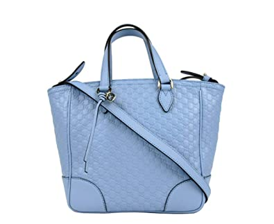 69e965ac05a8e2 Amazon.com: Gucci Women's Light Blue Guccissima Leather Small Crossbody Bag  449241 4503: Shoes