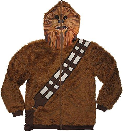 Star Wars Chewbacca Hoodie Mask Zip Medium -