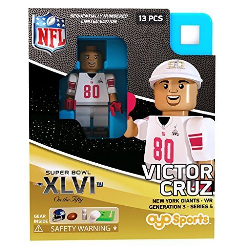 Victor Cruz NFL OYO New York Giants S.B. XLVI L.E. of 2,015 Generation 3 Super Bowl 50 Series G3 Mini Figure