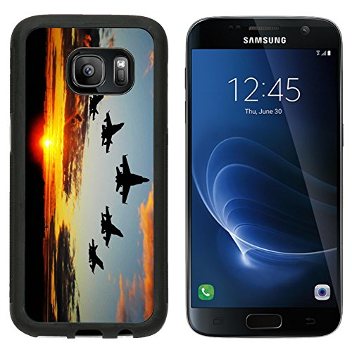 msd-premium-samsung-galaxy-s7-aluminum-backplate-bumper-snap-case-five-bombers-over-orange-sunset-im