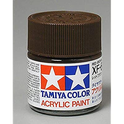 Tamiya America, Inc Acrylic XF64, Flat Red Brown, TAM81364: Toys & Games