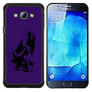 Queen Pattern - FOR Samsung Galaxy A8 A8000 - cool cute purple art cartoon animal character - Cubierta del caso de impacto con el patr???¡¯???€????€??&sbquo