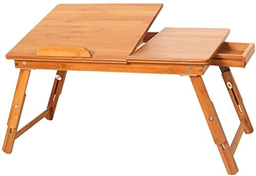 XUERUI Plegable Mesa Portátil Bambú Cajón Plegable Ordenador ...