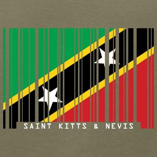 Saint Kitts and Nevis / St. Kitts und Nevis Barcode Flagge - Herren T-Shirt - Khaki - XS
