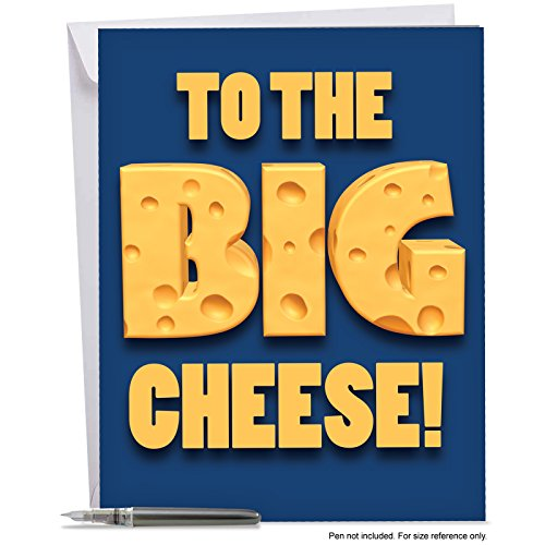 J3950OCB Jumbo Funny All-Occasion Card: Big Cheese With Envelope (Extra Large Version: 8.5'' x 11'') (The Big Cheese compare prices)
