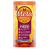 Cheap Metamucil Daily Fiber Supplement, 100% Natural Psyllium Husk, Orange Smooth Sugar Free Fiber Powder, 72 Doses