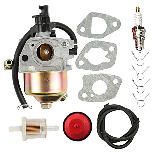 Hilom 170S Carburetor for HUAYI 170SA 165S 165SA Yard machine Snow Blower MTD Cub Cadet 951-10368 951-10638A 751-10638 951-14026A Troy Bilt Carb with Primer Bulb Air Fuel Filter Line 3 Gaskets