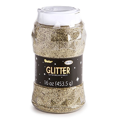 Darice 16 oz Regular Glitter in a Jar, Gold