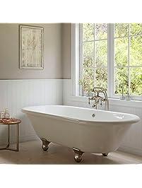Clawfoot Bathtubs Amazoncom Kitchen  Bath Fixtures Bathtubs - 55 inch freestanding tub