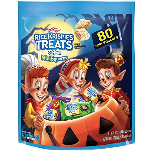 Kellogg's Rice Krispies Treats Halloween Limited Original Mini 80 Squares Family -