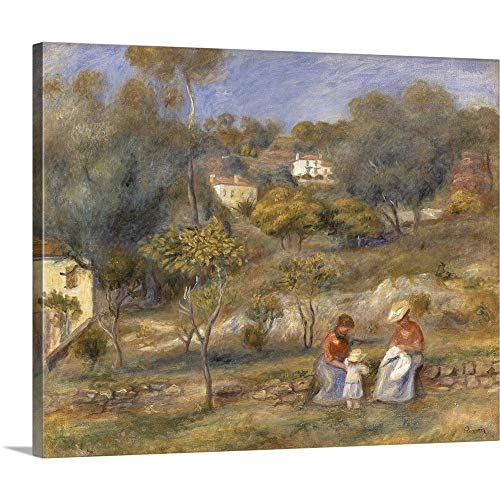 GREATBIGCANVAS Gallery-Wrapped Canvas Entitled Two Women and a Child, Impressionist Landscape Painting by Pierre-Auguste Renoir, 1902 by Pierre Auguste (1841-1919) Renoir 36