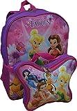 "Disney Fairies Tinkerbell & Friends 16"" Backpack W/ Detachable Lunch Box"