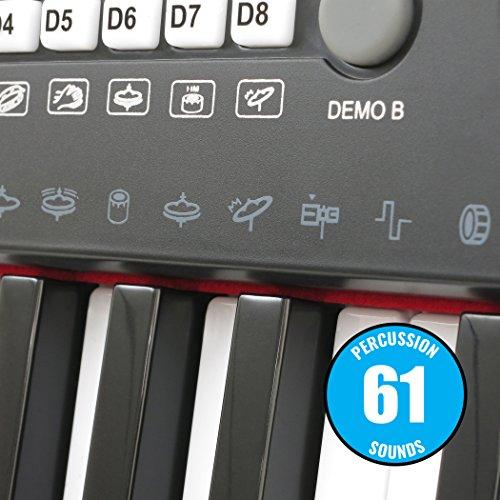 Plixio 61 Key Electronic Keyboard Piano with LED Display, Stereo & USB Input- Portable Music Keyboard - Image 6