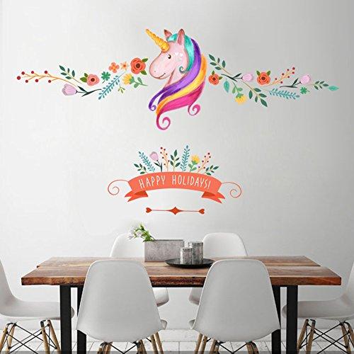 Unicorn Wall Decor Sticker Decals Girls Bedroom Wall Stickers Nursery Room Wall Decor -Lovely Unicorn Gifts for Girls