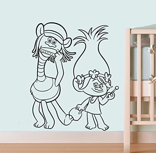 Trolls Cooper And Poppy Decal Bedroom Decor