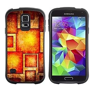 Suave TPU Caso Carcasa de Caucho Funda para Samsung Galaxy S5 SM-G900 / Sun Red Orange Pattern / STRONG