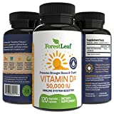 Cheap Vitamin D3 50,000 IU Weekly Supplement – 120 Vegetable Capsules – Helps Boost and Strengthen Bones, Teeth, Immune System and Muscle Function – by ForestLeaf