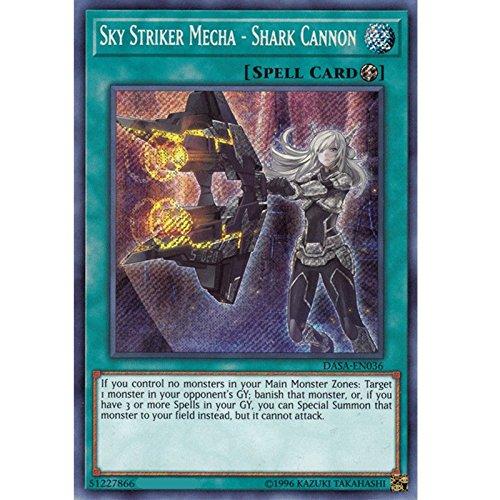 (Sky Striker Mecha - Shark Cannon - DASA-EN036 - Secret Rare - Unlimited)
