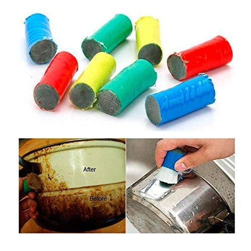 Magic Stainless Steel Cleaner Brush Stick Rust Remover Metal Polisher 2PCS