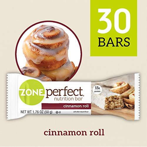 ZonePerfect Nutrition Snack Bars, Cinnamon Roll, 1.76 oz, (30 Count)