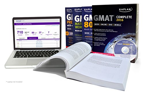 Kaplan GMAT Complete 2016: The Ultimate in Comprehensive Self-Study for GMAT: Book + Online + DVD + Mobile (Kaplan Test Prep)