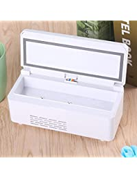 Portable insulin refrigerated box, Small refrigerator freezer portable mini rechargeable smart cooling box portable mini fridge cooler & warmer-White