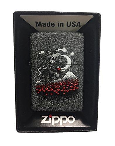 [Zippo Custom Lighter - Scarecrow Hearts - Iron Stone Matte] (Tin Man On Wizard Of Oz)