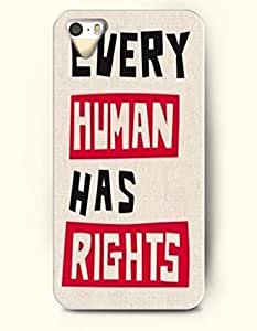 iPhone 5 5S Hard Case (iPhone 5C Excluded) **NEW** Case with Design Every Human Has Rights- ECO-Friendly Packaging...