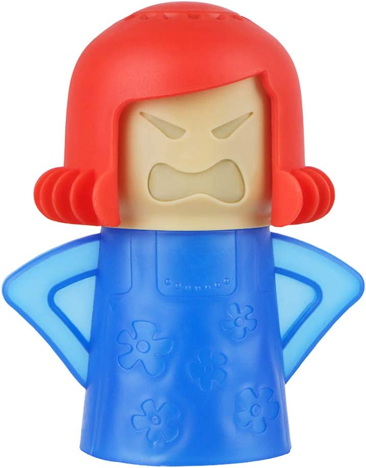 Angry Mom Microwave Cleaner - Angry Mom Mad Creay Mama Microwave Oven Cleaner High Temperature Steam Cleaning Equipment Tool Easily Crud Steam Cleans Add Vinegar and Water for Kitchen (Blue)