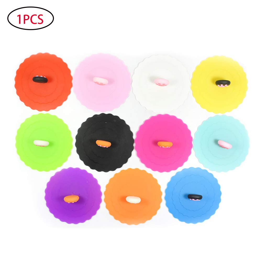 1pc Silicone Pet Can Lid Cover for Pet Dog and Cat Food Cans Food Grade Silicone and BAP Free (Random Color) Cotowin