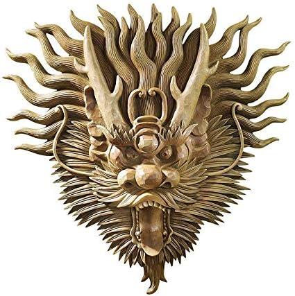 Design Toscano NG34875 Tibetan Sculptural Dragon Wall Mask,multicolored