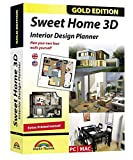 Software : Sweet Home 3D - Interior Design Planner with an additional 1100 3D models and a printed manual, ideal for architects and planners - for Windows 10-8-7-Vista-XP & MAC
