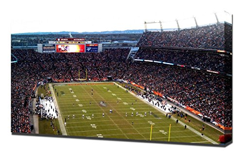 Lilarama USA Denver Broncos Invesco Field Stadium - Canvas Art Print - Wall Art - Canvas Wrap