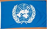 United Nations (UN) Flag - 3 foot by 5 foot Polyester (NEW)