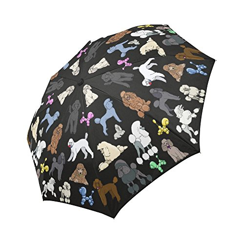Artsadd Fashion Umbrella Poodle Sun Rain Travel Auto-Foldable Umbrella