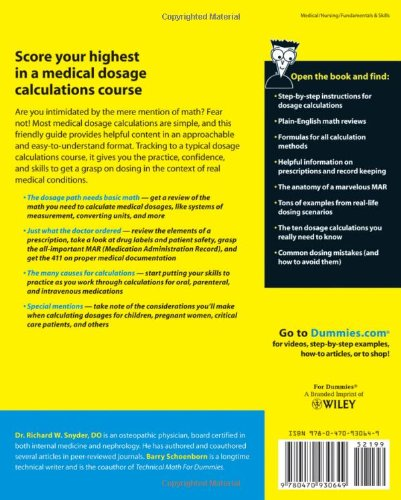 Medical Dosage Calculations For Dummies