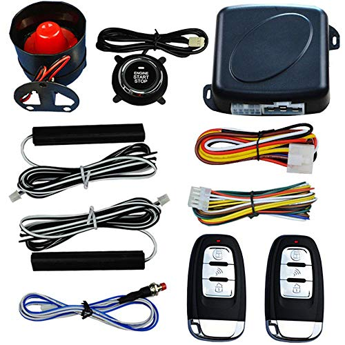 8980 System - YOUNGFLY Universal Keyless Entry Car Alarm System Button Remote Engine Start Smart Key Passive