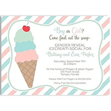 amazon com gender reveal invitations what s the scoop baby