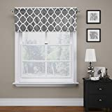 FlamingoP Moroccan Mild Gray Valance Curtain Extra Wide and Short Window...