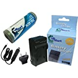 Canon SD4500 Battery and Charger with Car Plug and EU Adapter - Replacement for Canon NB-9L Digital Camera Batteries and Chargers (1200mAh, 3.5V, Lithium-Ion)
