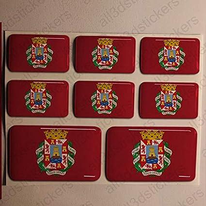 Pegatinas Cartagena España Resina, 8 x Pegatinas Relieve 3D ...